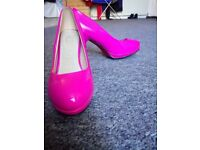 Pink high heels in size 6
