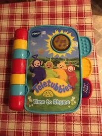 VTech Teletubbies Time to Rhyme Book