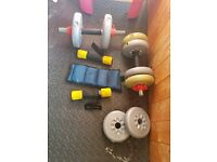 dumbbells & other items