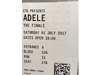 ADELE in concert in Wembley - 1st July 2017. Block 526