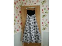 Ballgown or Prom Dress, Stunning, elegant black and light silver gown ,excellent condition
