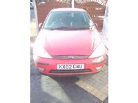 02 Plate ford Focus Red 3 Door