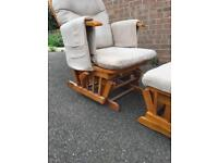 ROCKING CHAIR AND ROCKING FOOTSTOOL