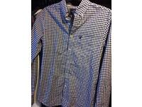 Men's Navy Checked American Eagle Outfitters Shirt Size S