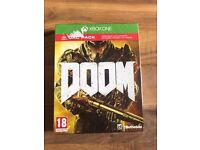 doom & ulc dlc pack , brand new & sealed , xbox one ! price stands , no offers ! will post !