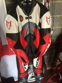 Wolf racing suit one piece leathers with armour