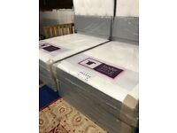 quality new double bed + high quality sprung mattress with memory foam mattress + headboard