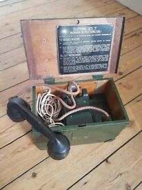 WW2 Military Field Telephone