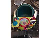 Mamas and papas snug seat with toy tray