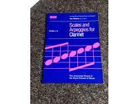 Scales and Apreggios for Clarinet