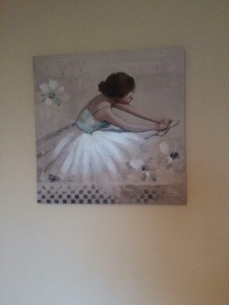 Beautiful ballerina canvases (the pair)