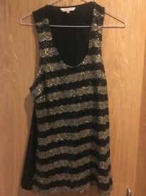 Limited Edition black sequin top. Size 14
