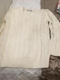 Cricket jumper and 4 pairs cricket gloves
