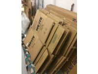 Removal strong professional cardboard boxes. About 50 various sizes including wardrobe boxes.