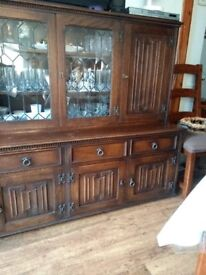 Display Cabinet Real Wood