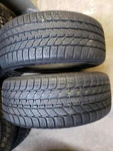 2 winter tires Bridgestone blizzak lm25 205/50r17 runflat