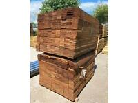 •New• Brown Treated Feather Edge Wooden Fencing Pieces / Boards / Panels - 1.5M / 1.8M