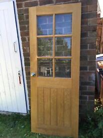 Solid oak veneer door