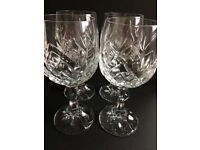 Crystal White Wine Glasses x 4