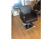Hair dressing salon chairs x 5 and back wash