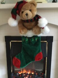 Beautiful plush velvet Christmas stockings