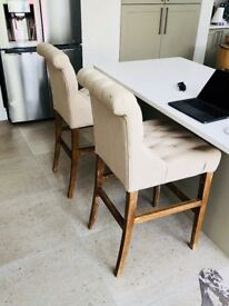 6 Barker & Stonehouse Buttoned Barstools