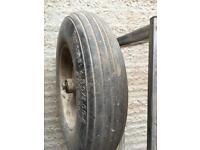 Puncture proof wheel barrow wheel