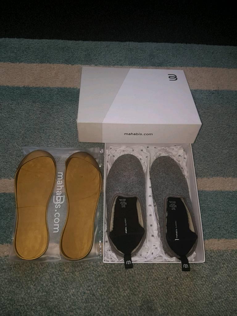 ** SOLD ** Mahabis Classic - Larvik light grey - Gold Edition sole - Size EU 39 - UK 6