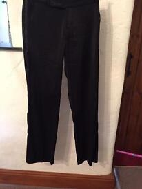 Black everyday Warehouse trousers size 10