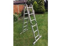 Hardwearing folding ladder