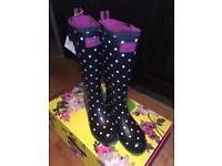 Joules Ladies Wellies, Size 3