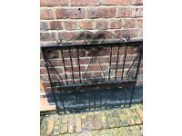 Black wrought iron classic scroll metal garden gate NEW