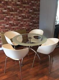 Barker and stonehouse retro bucket chair dining set