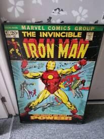 Iron Man hard board picture