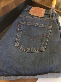 Levi 535 Denim Shorts - 32 inch waist