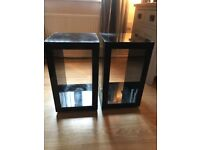 NEXT black gloss side lamp tables Rrp£80 each