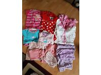 Baby girls pj's selection
