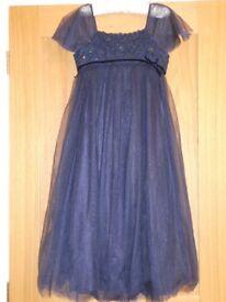 Monsoon Age 11-12 Navy Spark Flower Detailed Dress