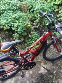 Apollo FS24 full suspension child's bicycle