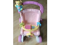 Baby pushchair walker