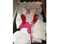 Baby Girls Sleepsuit and vest bundle- 9-12 months