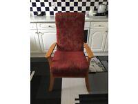Fireside high back chair