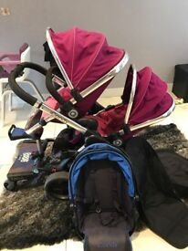 Icandy peach blossom double pushchair pink