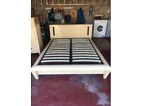 Double Bed Frame & Headboard in Light Oak