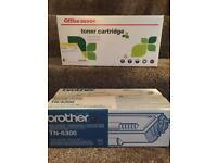 HP Black Toner Cartridge 80x (compatible) & Brother Toner TN-6300