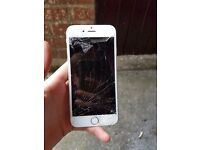 Space grey iphone 6 broken screen so will need repaired