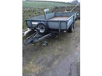 Ifor Williams LM126g flat bed trailer