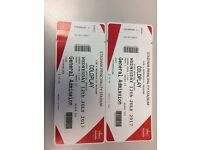 Coldplay tickets Cardiff Wednesday 12 July