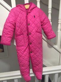 Ralph Lauren Baby Girl Pram Snow Suit 12 months