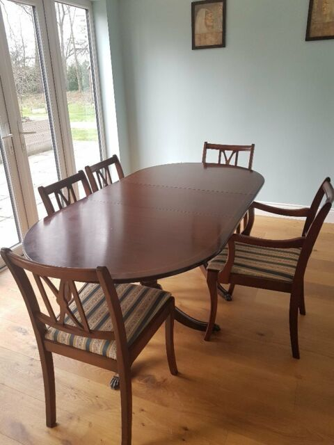 Dining Table Two Carvers And Three Chairs In Westbury Wiltshire Gumtree
